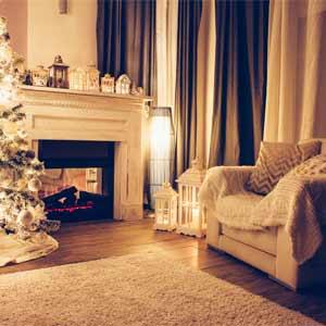断熱カーテンで暖かそうな部屋