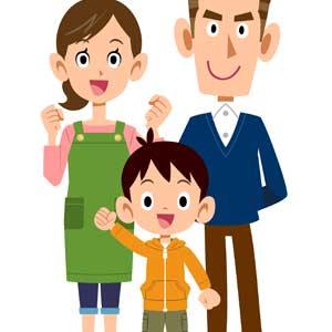 子供のために学資保険に加入した家族