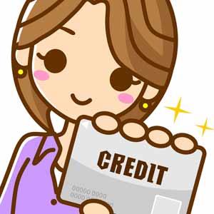 クレジットカードでiDを使う女性