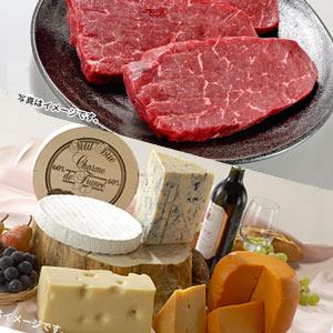 ふるさと優待のお肉とチーズ