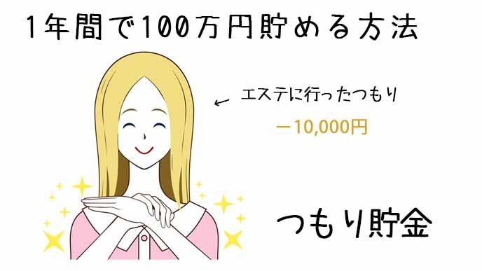 エステに行ったつもりで1万円を節約した女性